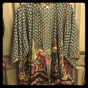 Sweaters - Funky print kimono